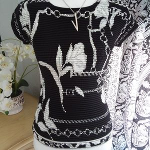 Alberto Makali Sz Sm Black and White with Sequins